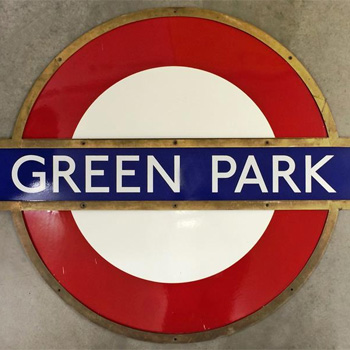 Green Park Mayfair statiion sign