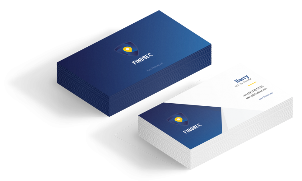 FindSec business cards