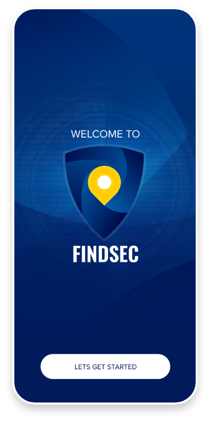 FindSec mobile app splash screen