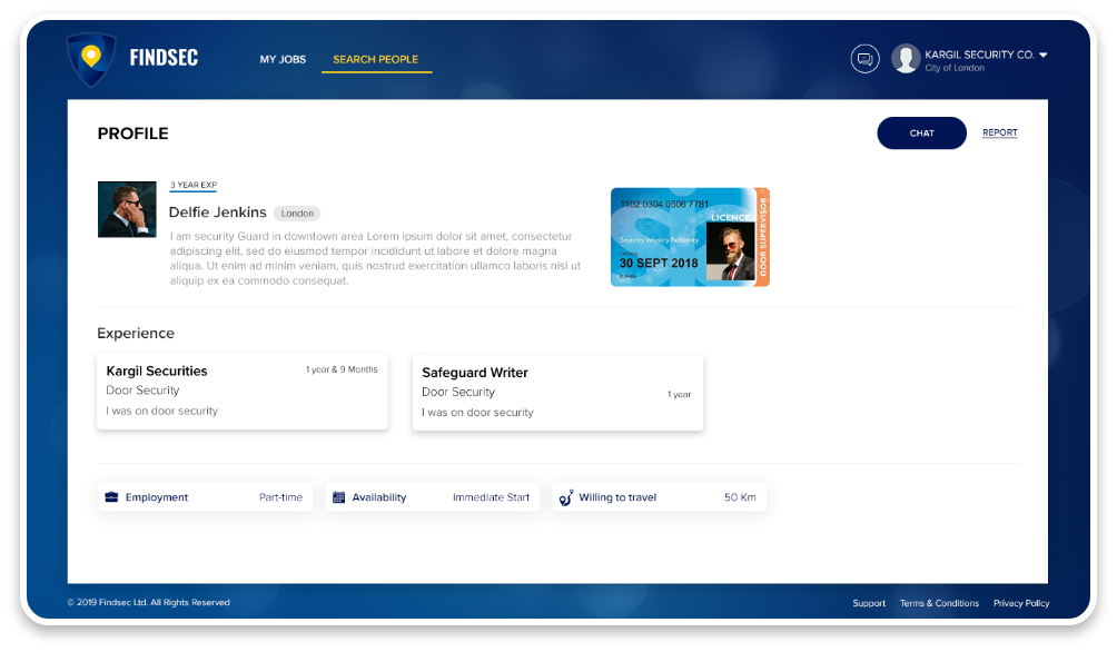 FindSec webapp profile