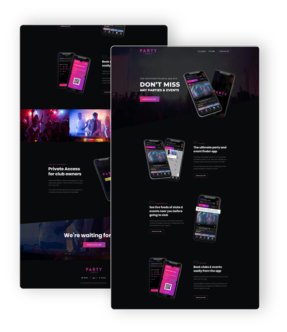 Party App Marketing Site