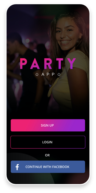 Party App Mobile App Login