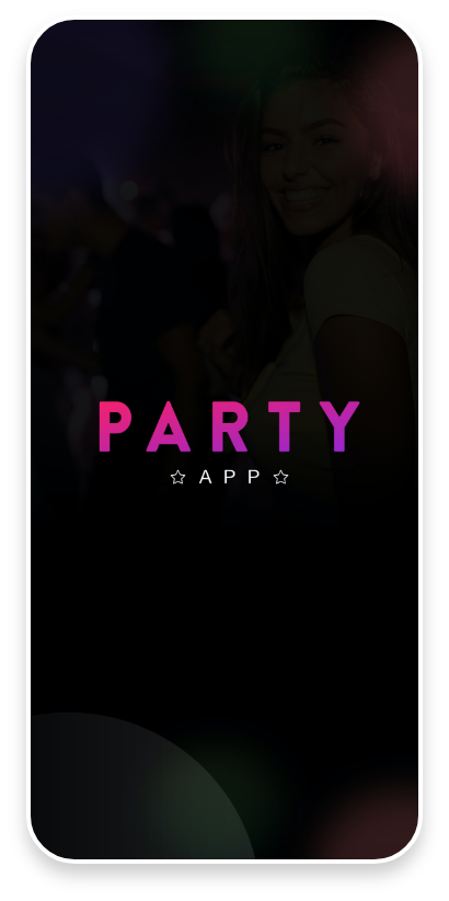 Party App Mobile app Splash