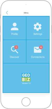 Geobiz main screen