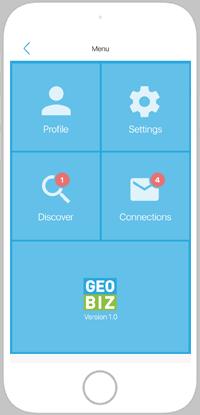 Geobiz main screen
