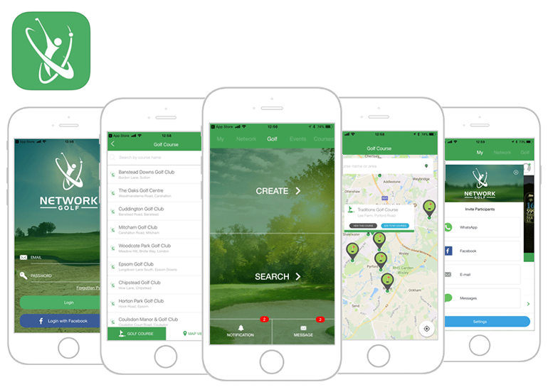 Network golf app featured image