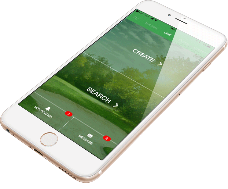 Network golf app main image