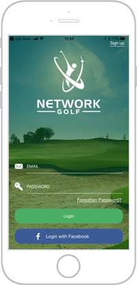 Network golf app portfolio screen 2
