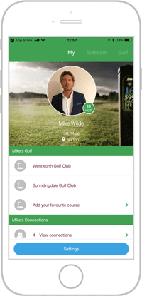 Network golf app portfolio screen 3