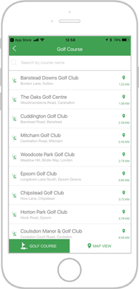 Network golf app portfolio screen 6