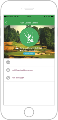 Network golf app portfolio screen 7