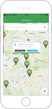 Network golf app portfolio screen 8