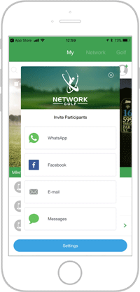 Network golf app portfolio screen 9