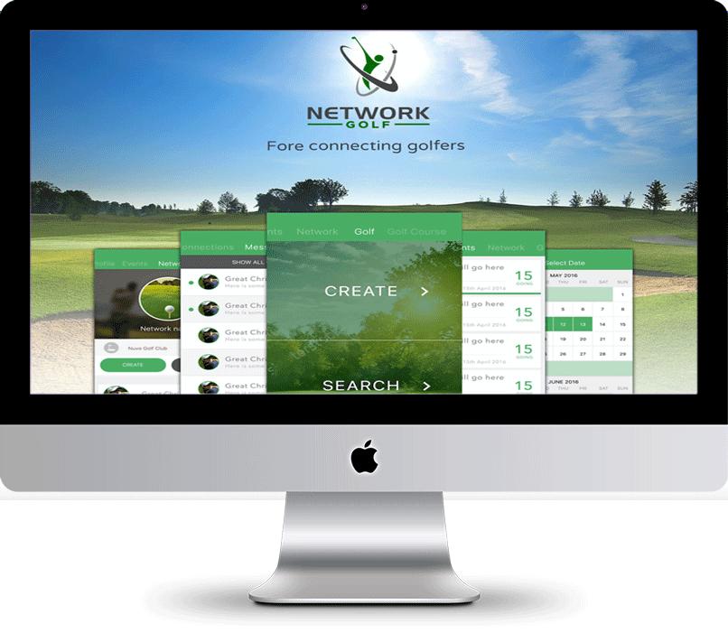 Network golf microsite