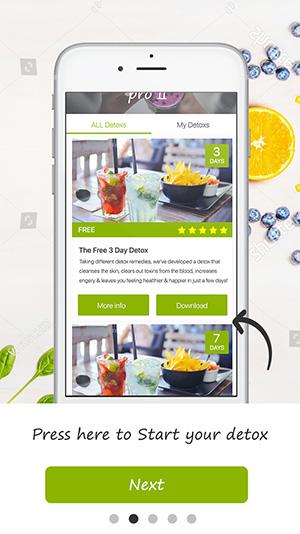 tutorial screen detox pro app 2