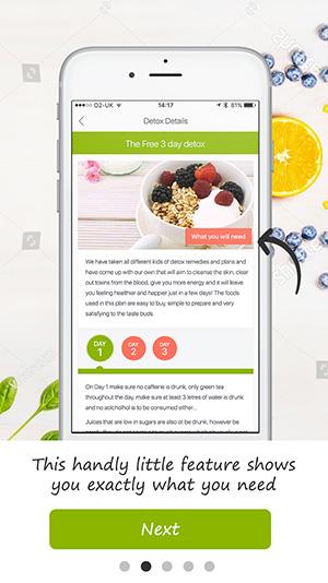 tutorial screen detox pro app 3