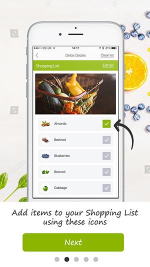tutorial screen detox pro app 4