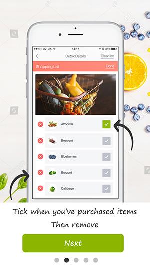 tutorial screen detox pro app 5