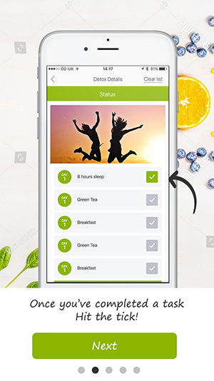 tutorial screen detox pro app 9