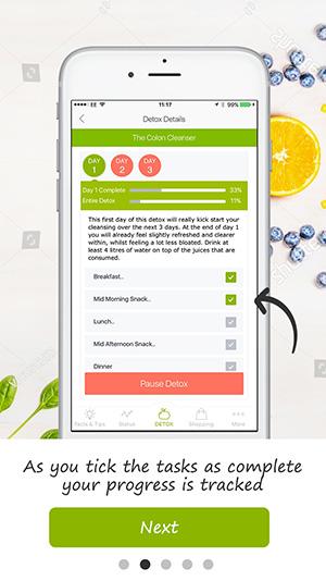 tutorial screen detox pro app 11