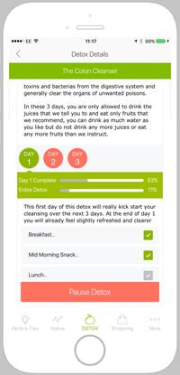 detox pro app portfolio screen 2