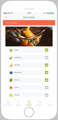 detox pro app portfolio screen 4