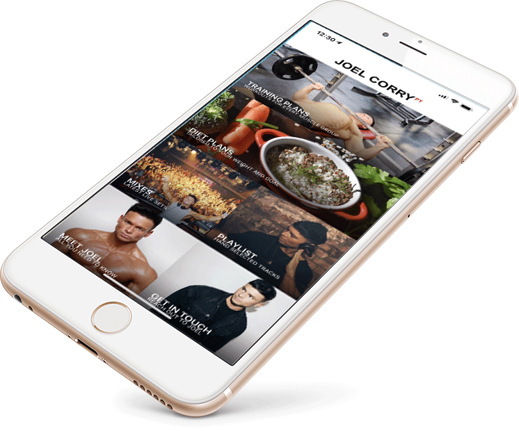 Main phone Joel Corry App