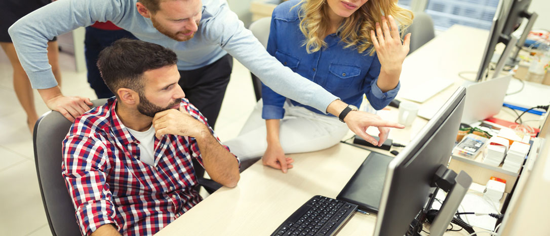 app developers working at desk